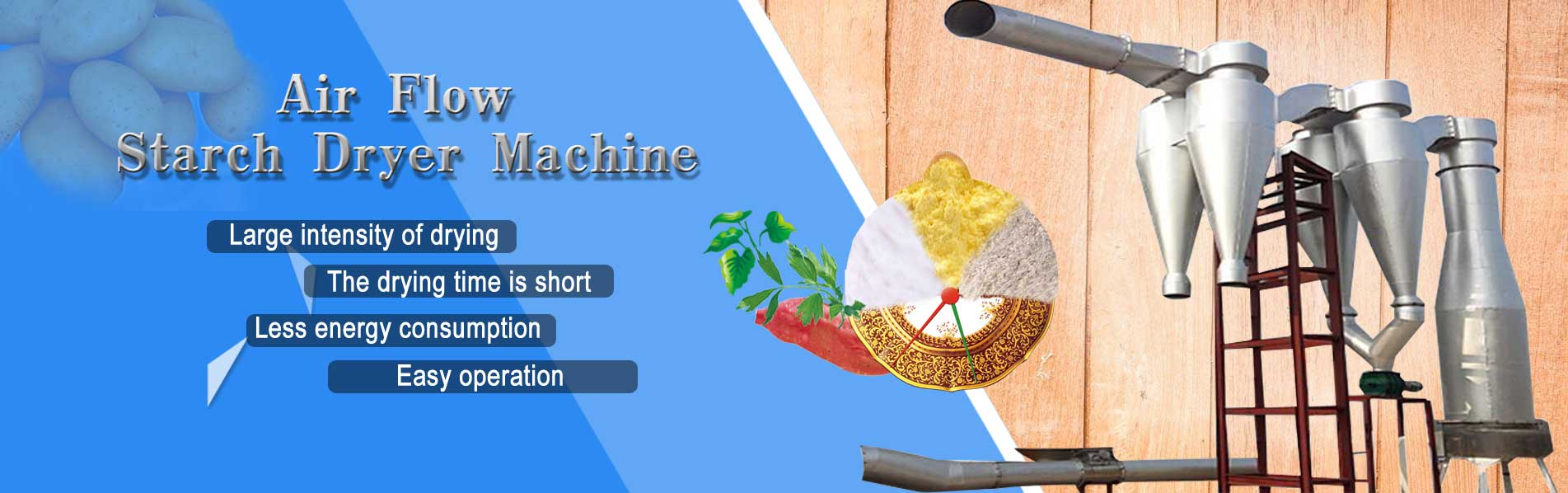 Air Flow Starch Dryer Machine