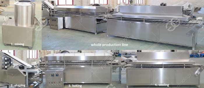 commercial automatic pita bread making machine production line for sale