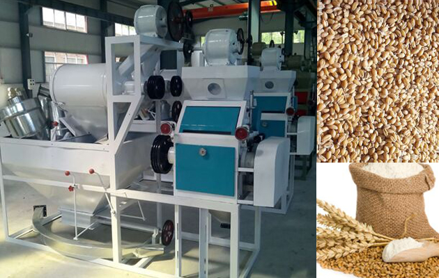 automatic wheat flour milling machine for sale with 150kg per hour
